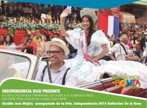 DESFILE DIA DE YARACUY - alcalde + reina 2