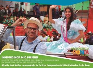 DESFILE DIA DE YARACUY - alcalde + reina