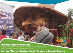 DESFILE DIA DE YARACUY - carroza - tierra y hombres libres