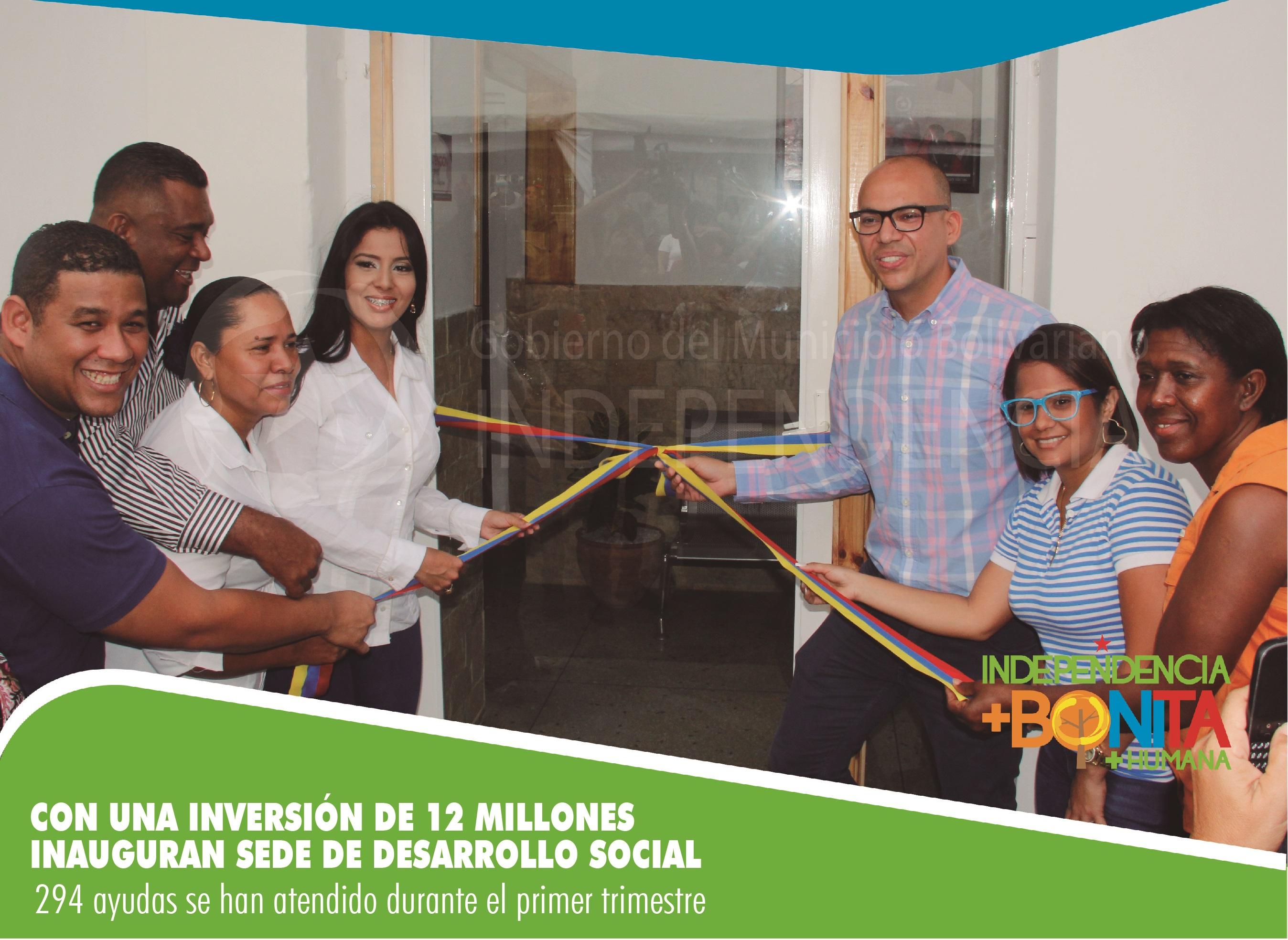 Con una inversión de 12 millones inauguran sede de Desarrollo Social