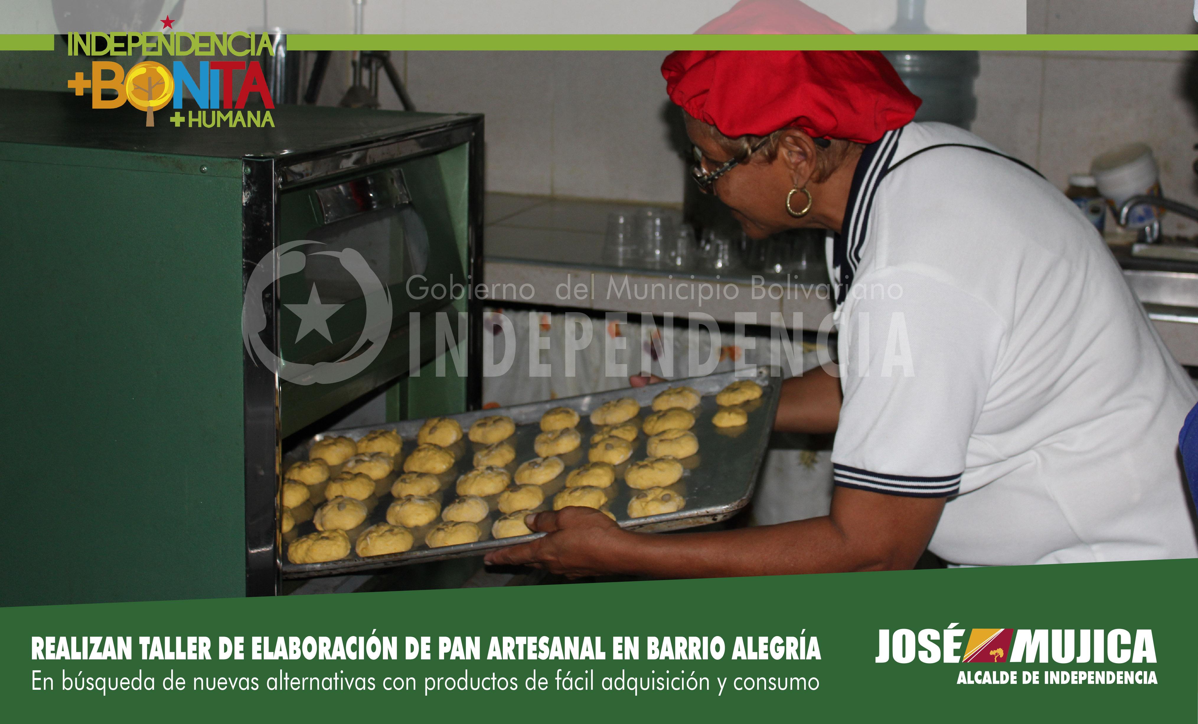 Realizan taller de elaboración de pan artesanal en Barrio Alegría